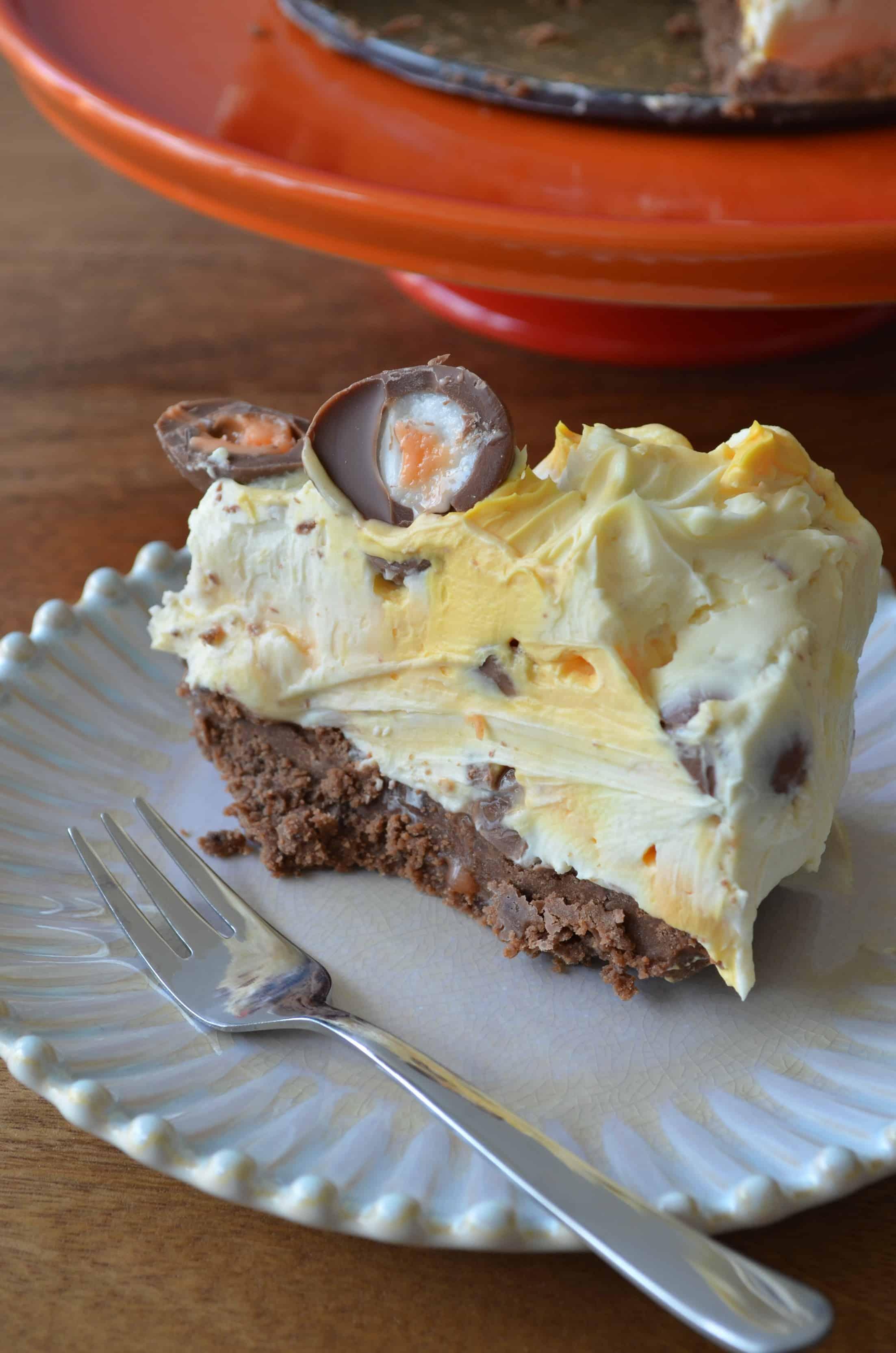 no bake creme egg cheesecake