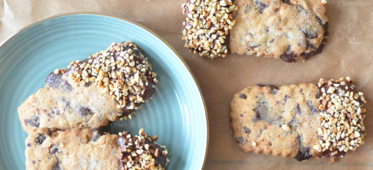 Chocolate and Hazelnut Dipped Shortbread