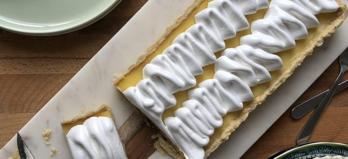 Lemon Curd and Swiss Meringue Tart