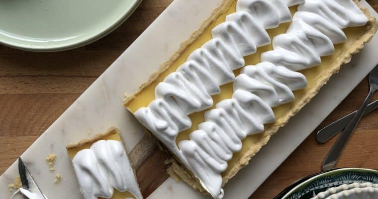 Lemon Curd and Swiss Meringue Tart