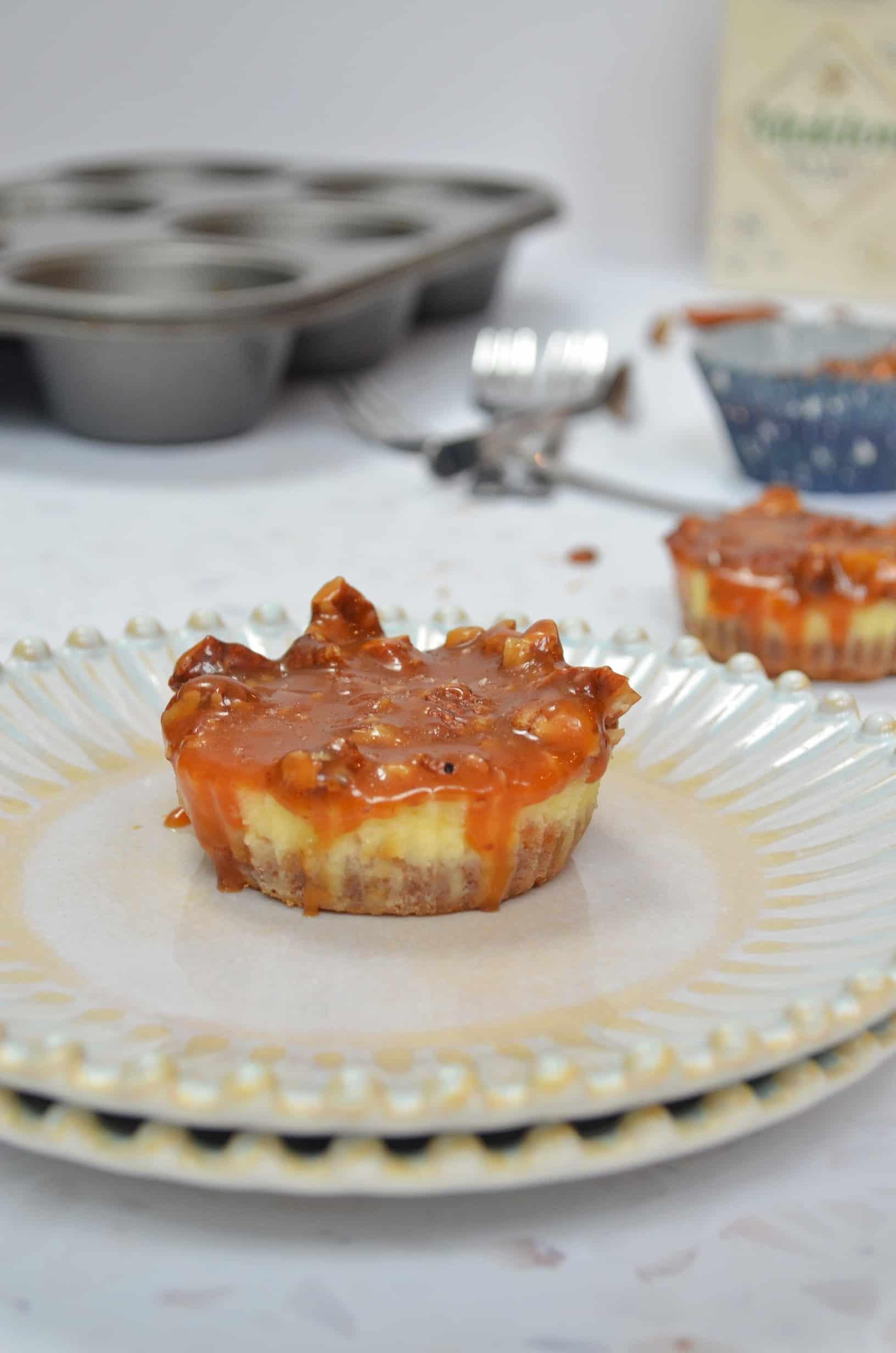 caramelised pecan cheesecakes
