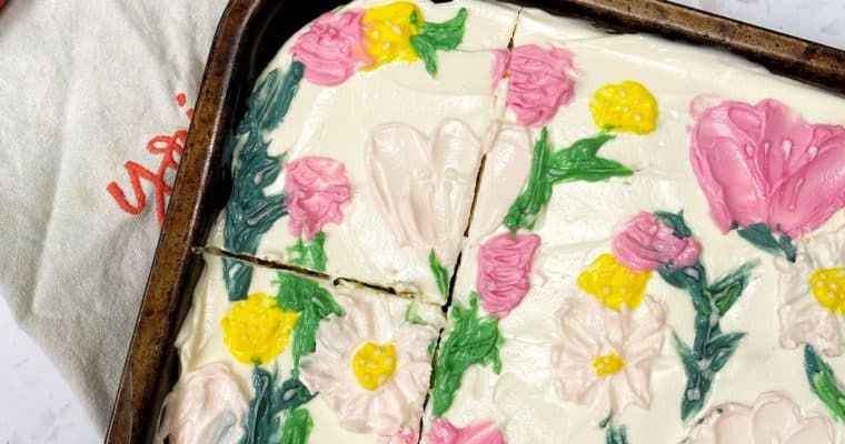 Courgette Cake with Lemon Cream Cheese Icing