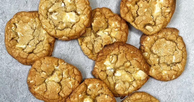 White Chocolate Cashew Cookies