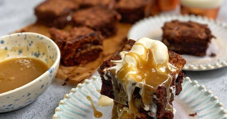 Butterscotch Tahini Brownies