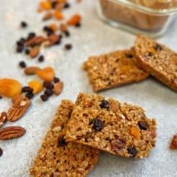 fruity oat bars