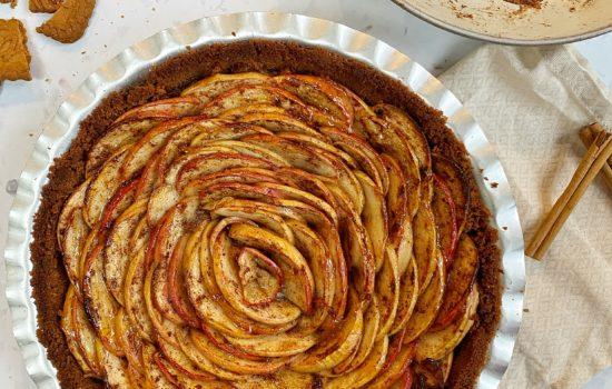 Spiced Apple Rose Tart