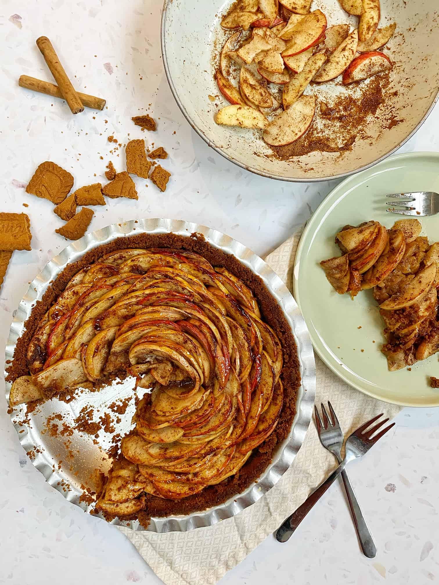 spiced apple tart