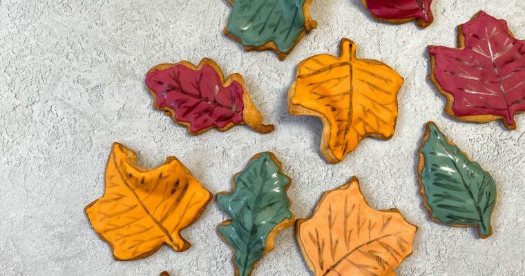 Maple Autumn Leaf Biscuits