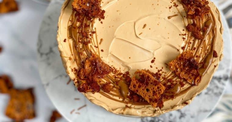 No-Bake Honeycomb & Biscoff Cheesecake