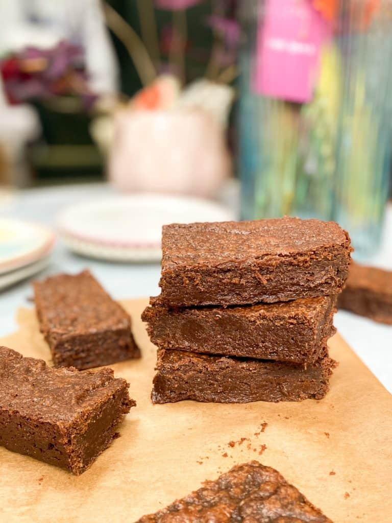 vegan rye brownies