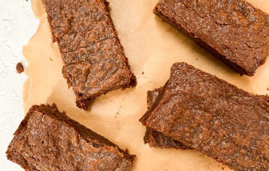 Vegan Rye Chocolate Brownies