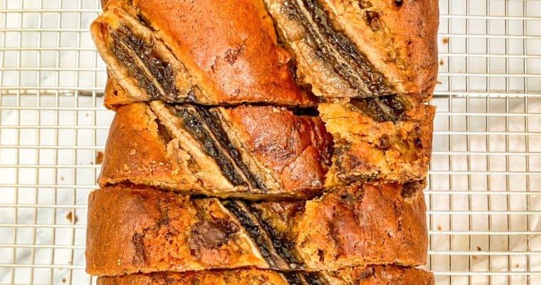 Vegan Biscoff Banana Bread