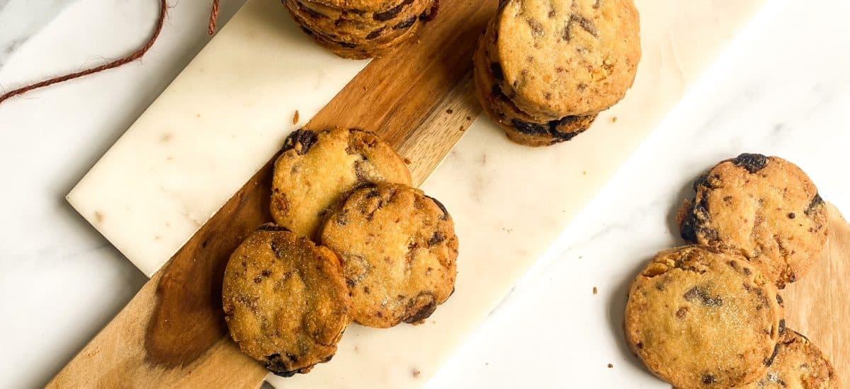 Pretzel Chocolate Shortbread Cookies