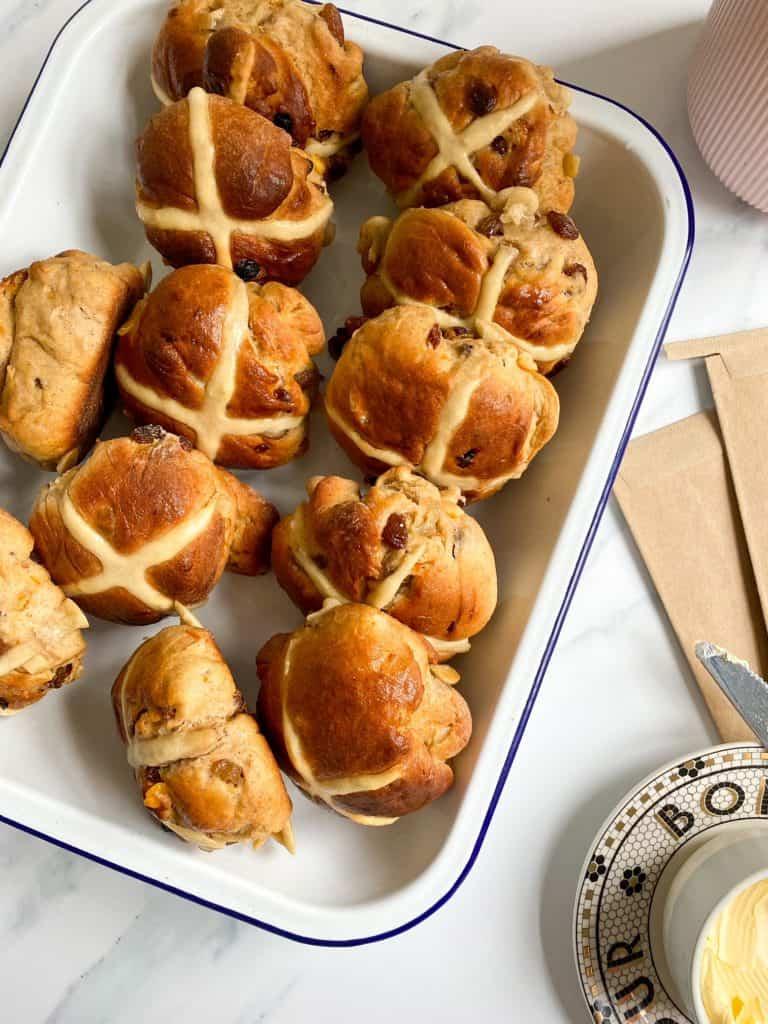 brioche hot cross buns