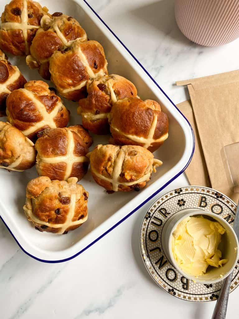 spiced brioche hot cross buns