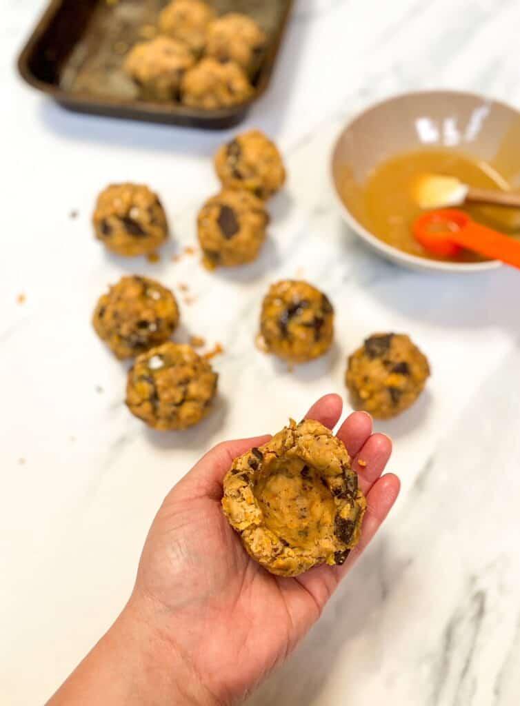 caramel cookie process