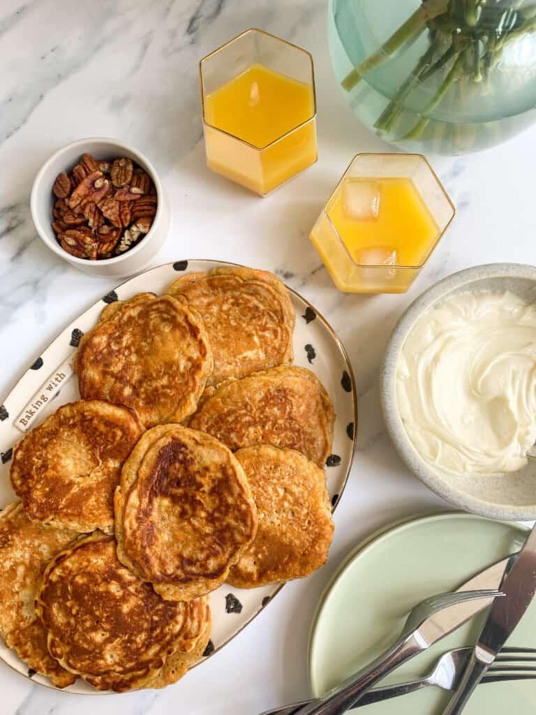 flatlay breakfast spread