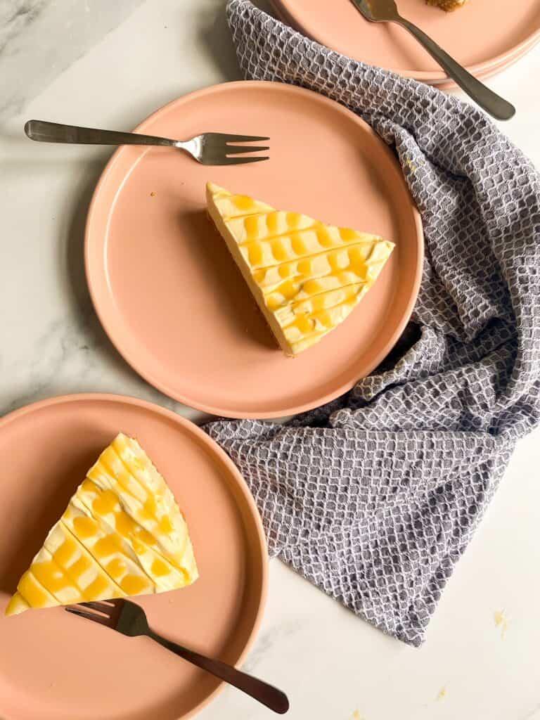no-bake caramel cheesecake