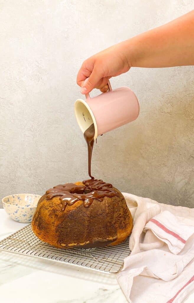 chocolate hazelnut bundt cake