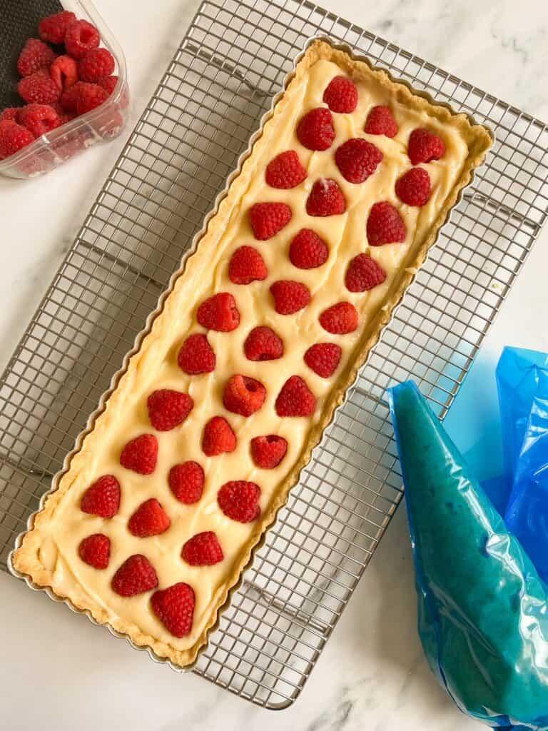 raspberry creme pat tart