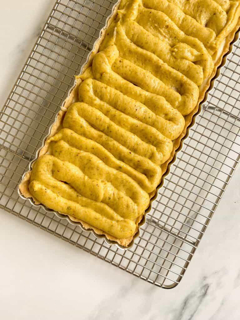 pistachio frangipane tart