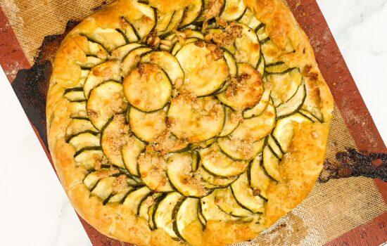 Cheesy Courgette (Zucchini) Galette