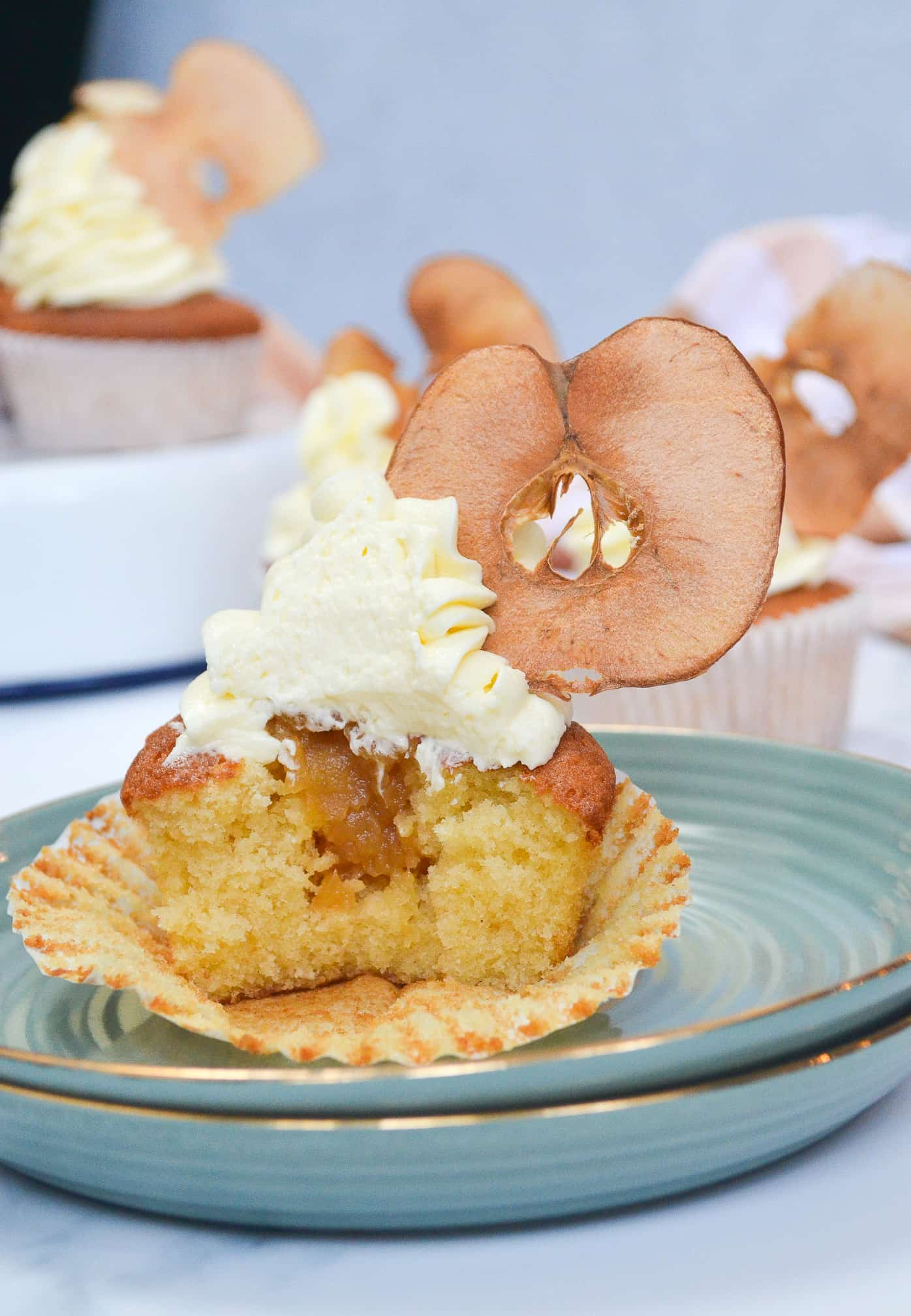 honey apple cupcakes slice