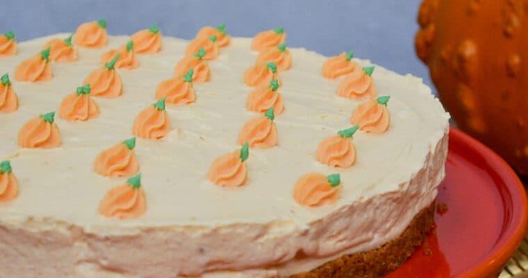 Vegan Easy No-Bake Pumpkin Cheesecake
